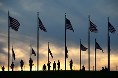 Flags at Sunset (Andrew Aliferis) Tags: washington dc silhouettes flags usa national andrew aliferis aga andy sunset
