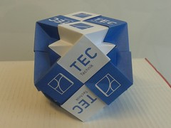 Nested cubes (ISO_rigami) Tags: modular a4 sonobe rectangular cube polyhedron 3d