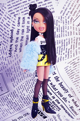 Bitch I'm on top now, where your funds at? (DollTheRage) Tags: bratz be hot cute punk aesthetic newspaper bun fur leather boots girls sexy lips dolls bntm models hispanic dark hair
