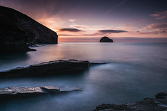 No One About (b.pedlar) Tags: meetingplace charming wine kingsley'sfriend lion atlantic cliffs rocks sunset gullrock trebarwithstrand landscape seascape colours sky noone calm tranquil beauty cornwall