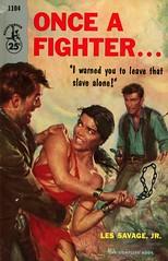Pocket Books 1104 - Les Savage, Jr - Once a Fighter... (swallace99) Tags: pocketbooks vintage 50s western bondage paperback robertschulz res ellenburstyn