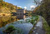 DSC_0215 - Gibson Mill, Hebden Bridge (SWJuk) Tags: swjuk uk unitedkingdom gb britain england yorkshire westyorkshire hebdenbridge hardcastlecrags gibsonmill pond mill water still calm reflections weed wall leadin millbuilding trees bluesky clouds sunny sunlight shadows 2017 oct2017 autumn autumnal autumncolours nikon d7100 nikond7100 tokina1116 wideangle rawnef lightroomcc