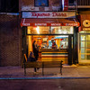 Taqueria Diana (deepaqua) Tags: night mexicanfood bench brick fireescape street storefront lowereastside restaurant nyc