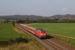 218 451-3 bei Hahndorf (b.Goslar) by 143 321-8 - mit Re 14071 von Hannover Hbf nach Bad Harzburg - 16.09.14