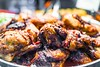 BERBERE CHICKEN (rawspicebar) Tags: chicken thighs roast grill dish prepared glazed charred catering serving barbecued healthy peppers many closeup detail texture hot unitedstates spices buy online berbere organic