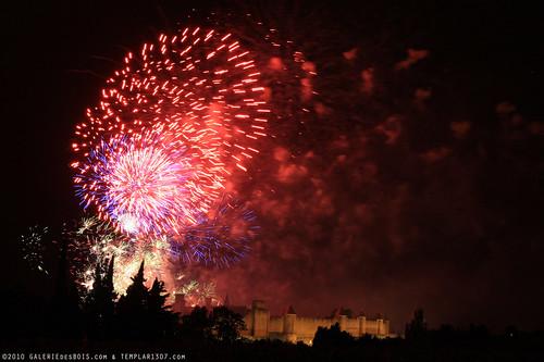 FR10 8367 Le 14 Juillet, la Fête Nationale Française. La Cité de Carcassonne, Aude, Languedoc