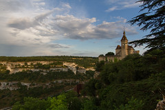 Rocamadour, France (-dangler) Tags: dandangler france europe travel adventure summer outdoors outside scenic landscape wallart architecture rocamadour tower citéréligieuse midipyrenees croixdejérusalem clock clouds cloudy weather blueskies