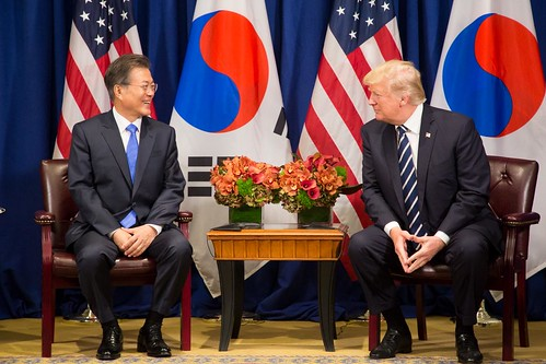 South Korea President Moon Jae-in and President Trump