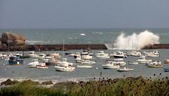 17 09 11 Pors Guen 1 (pghcork) Tags: porsguen plouescat finistere brittany bretagne france stormyseas waves boats fishingboat