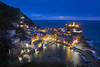 Vernazza, Blue Hour during a thunderstorm. (ms2thdr) Tags: 5terre bluehour cinqueterre europe evening italy liguria sunset thunderstorm unescoheritagesite vernazza blue sky water mediterranean