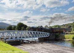 LMS 44871 - Caledonian Canal (Neil Sutton Photography) Tags: 260 44871 banavie black5 caledoniancanal canon fortwilliam jacobite lms railway scotland scotlandsrailway steamengine steamlocomotive steamtrain train wcrc westcoastrailways westhighlandline loco locomotive