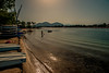 Welcome to paradise.... (Dafydd Penguin) Tags: beach sea sun sand water evening light calm scene explore man swim alcudia mallorca balearics island life sunshine coast coastal spain nikon df nikkor 20mm af f28
