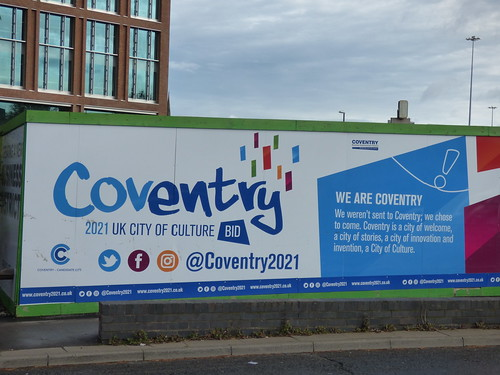 Friargate Coventry - Junction Six Coventry Ring Road - sign - Coventry 2021 UK City of Culture BID