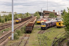 Resting peacefully (Nodding Pig) Tags: leicester depot railway train leicestershire england greatbritain uk 2017 class66 dieselelectric locomotive generalmotors emd 66027 dbschenker 201704296237101