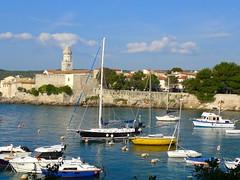 Krk, Croatia (ali eminov) Tags: krk croatia architecture buildings houses cityscape seas adriaticsea dalmatia churchoftheassumptionoftheblessedmary churches boats