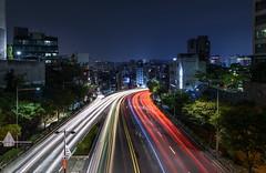 Donam Light Stream (TigerPal) Tags: korea korean lowlight longexposure ndfilter neutraldensity night dark darkness dusk bluehour nisi donam miarigogae lightstream lighttrails sungshin seoul
