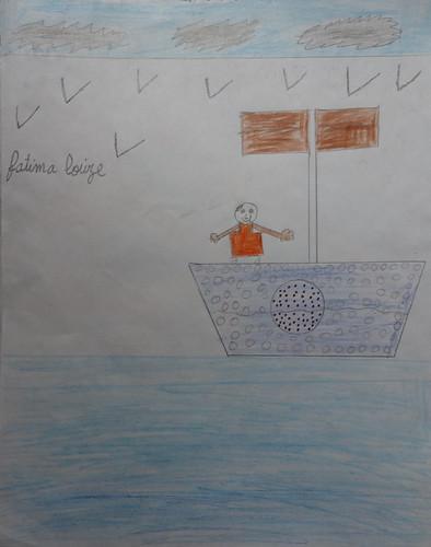 """dessin """"l'oiseau et l'enfant"""" (2)"""