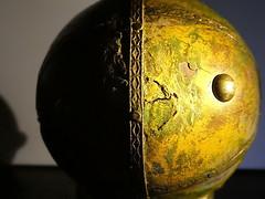 symbol of the globe (christikren) Tags: macromondays hmm sidelit handmade symbol globe makro christikren golden light world sidelight
