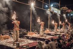 Varanasi - Ghats - Ganga Aarti prayer-6