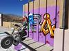 October 13, 2017 (117-365) (gaymay) Tags: california desert gay love palmsprings 365days selfie graffiti motorcycle bones wall clone purple rainbowgame
