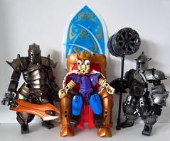 King Timmy and his Guard (ϟ Sparks ϟ) Tags: bionicle lego knights kingdom