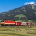 ÖBB 1144 117 am REX 1510 by TheKnaeggebrot - Die 1144 117 war im Sommer 2015 mit einem neuen Lack versehen worden und behielt dabei zum Glück das Schachbrett Design. Am 12.08.15 konnte ich die Lok mit dem REX 1510 von Salzburg nach Wörgl bei Windau ablichten.