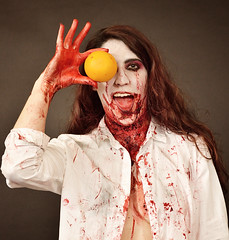Orange (Apionid) Tags: orange halloween blood horror portrait werehere nikond7000 hereios