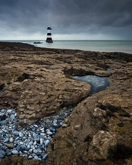 Rockpool (Greg Whitton Photography) Tags: autumn cymru landscape seascape snowdonia sony wales a7rii penmon anglesey rock pool cloud weather pebbles sea kase filters reverse grad