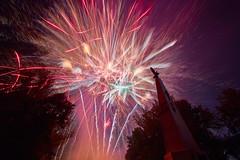 Firework (fandango206) Tags: smolensk night lightpainting firework monument