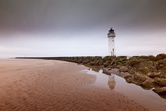 Tide's Out (another_scotsman) Tags: longexposure firecrestnd48 perchrock lighthouse seascape coast beach merseyside