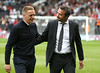 9071102al (FulhamOfficial) Tags: fulham v middlesbrough efl sky bet championship craven cottage london uk 23 sep 2017 garry monk manager shakes hands with slavisa jokanovic during match between at football sport soccer footballer player coach footballplayer sportsperson male personality 63761513