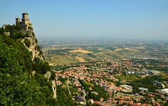 #14/52 - Below - 52 in 2017 Challenge (Krasivaya Liza) Tags: sanmarino therepublicofsanmarino san marino italy italian europe european country countryside nature medieval castle fort fortress buildings architecture mountain mountains mountainous vista landscape mountaintop village town valley view summer 2017 pictures 14 1452 below 52in2017challenge 52weeks