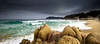 Landscape in a good Shape (Beppe Rijs) Tags: sardinien landscape light nature sardegna sardinia italien italy coast coastline mediterraneansea mittelmeer water bay blue atmosphere rock silhouette beach green cloud rain shape