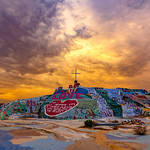Heavenly Sunset at Salvation Mountain. thumbnail