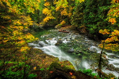 A Hidden Pool (KPortin) Tags: snoqualmieriver river autumn trees boulders cliff twinfallsstatepark twinfalltrail hss forest
