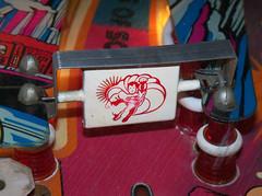 Superman (scottamus) Tags: pinball machine game table playfield spinner art artwork design graphics superman atari 1979