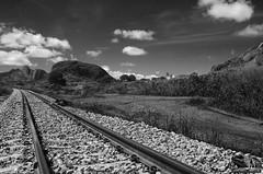 RAILWAY_BETWEEN_HILLS_NAMECUNA_NAMPULA_MOZAMBIQUE (paulomarquesfotografia) Tags: paulo marques pentax k5 smc 28mm f22 montanha moutain caminho de ferro ferrovia railway nature natureza céu sky nuvens clouds preto branco bw black white