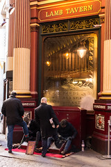 IMG_2643 Shoe shine (roger_thelwell) Tags: leadenhall market shoe shine liverpool street uk london beautiful photography bw black white portrait people urban city commuters winter cold hat hats mobile phone cell england hair fleet strand life natural walking talking conversation chat speak speaking beauty handbag stud studs lamppost lamp post shiny shiney leather smoking cigarette westminster traffic cab taxi bag sac shoulder mono monochrome great britain streets photographs real photographic photos candid