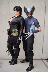 DSC_0967 (Randsom) Tags: newyorkcomiccon 2017 october7 nycc comic convention costume nyc javitscenter marvel superhero marveluniverse xmen hero mutant wolverine domino spandex cosplay leatherboots mutants