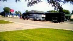 Celebrity tour bus! (Maenette1) Tags: celebrity music tour bus instrument trailer highwayus41 menominee uppermichigan flicker365 michiganfavorites