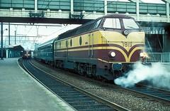 1819  Liege - Guillemins  15.09.79 (w. + h. brutzer) Tags: liegeguillemins eisenbahn eisenbahnen train trains diesellok dieselloks railway lokomotive locomotive zug 1800 cfl webru analog nikon