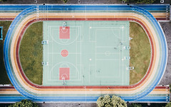 DJI_0004 (藍家嶸 Jia-rong Lan) Tags: colorful rainbow court playground runway circle symmetry 4inloveeee drone dronephotography vsco dji airshot hypecourts