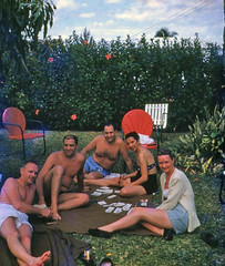 People playing cards at a backyard party in Miami (State Library and Archives of Florida) Tags: florida miami backyards parties cardgames lawns lawnchairs