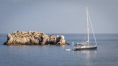 Sicily (PhredKH) Tags: bluesea bluesky boats yachts italia canoneos5dmkiii water sky bay rock sea boat landscape
