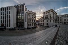 Universitätsplatz (p h o t o . w o r l d s) Tags: hallesaale sachsenanhalt deutschland architektur fisheye fischauge wideangle hdr tonemapping photomatix fujixt10 7artisans75mm28 photoworlds universitätsplatz martinlutheruniversität