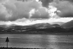 Summer964 (Bigdai100) Tags: anglesey beaumaris landscape sea sky snowdonia sonya5100 uk wales beach blackandwhite clouds outdoors seaside seasons summer water