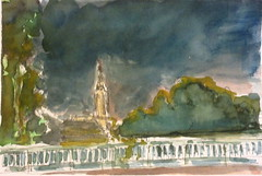 Du pont de la Dordogne 18-10-2017 (messerchristophe) Tags: pont de la dordogne cathédrale strasbourg aquarelle croquis urbain urban scketcher