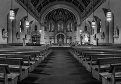 Everyday is Judgement Day (dshoning) Tags: odc wellitsalright cathedral chuch sanctuary bw monotone stambrose iowa