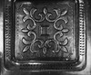 Bronze … in B&W (Thru Mikes Viewfinder) Tags: metal bronze tray product monochrome