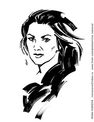 AnnaNetrebko (Irina V. Ivanova) Tags: portrait opera soprano annanetrebko music musician musical iconicportrait singer theater drawing illustration ink classical